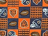 Fleece Chicago Bears Square NFL Football Fleece Fabric Print by the yard (s6232df)